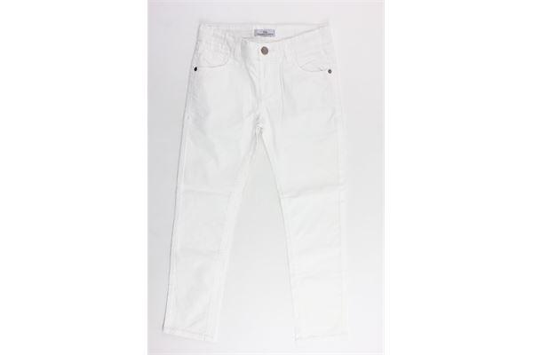 pantalone 5 tasche in cotone tinta unita CESARE PACIOTTI | Pantaloni | PTP402JBIANCO