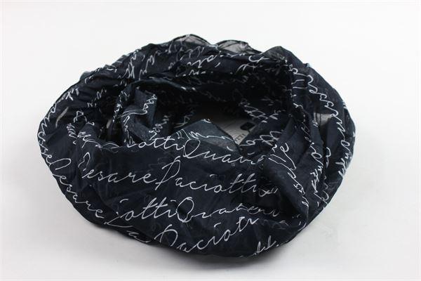 foulard tinta unita con stampa CESARE PACIOTTI | Foulards | SCP600JPBLU