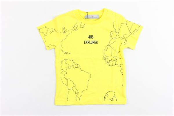 t-shirt mezza manica tinta unita con stampa CESARE PACIOTTI | T-shirt | TSP181812BPGIALLO