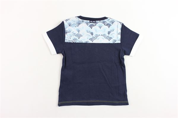 t-shirt mezza manica tinta unita con stampa CESARE PACIOTTI | T-shirts | TSP181816BPBLU