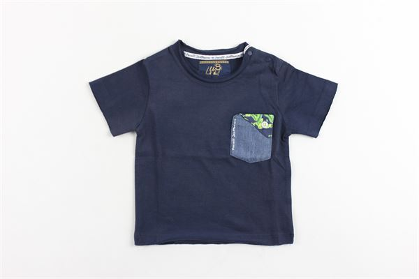 t-shirt mezza manica tinta unita con taschino CESARE PACIOTTI | T-shirt | TSP418BBLU