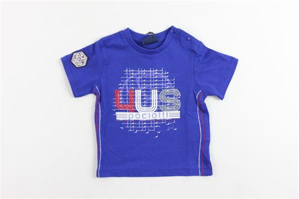 t-shirt mezza manica tinta unita con stampa CESARE PACIOTTI | T-shirt | TSP600BPCOBALTO