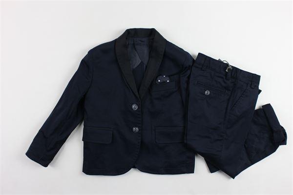 completo cerimonia giacca più pantalone tinta unita con taschino e foulard CF12 MILANO | Completi | AB01122BLU