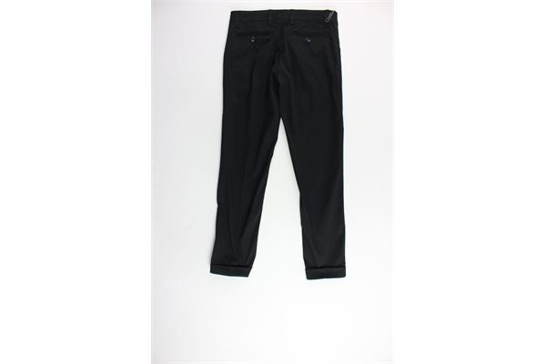 pantalone tinta unita tasca america CF12 MILANO | Pantaloni | PKB151NERO