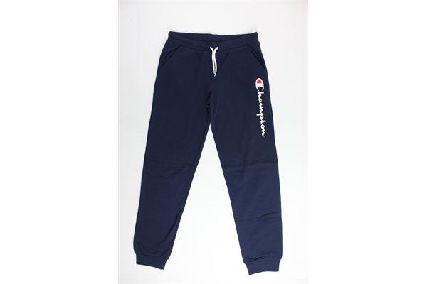 pantalone in felpa tinta unita stampa champion CHAMPION | Pantaloni | 304749BLU