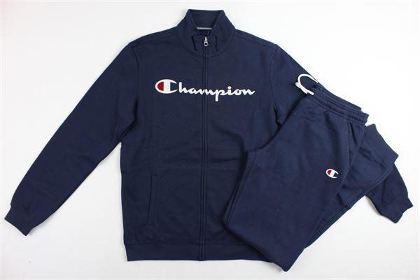 completo tuta felpa più pantalone stampa champion CHAMPION | Completi | 304789BLU