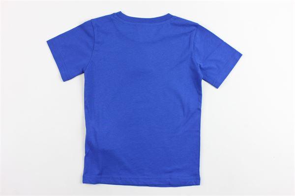 t-shirt mezza manica in cotone con stampa champion CHAMPION | T-shirts | 304975COBALTO