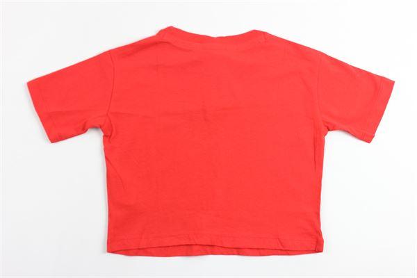 t-shirt mezza manica modello corto con stampa champion CHAMPION | T-shirts | 403636ROSSO