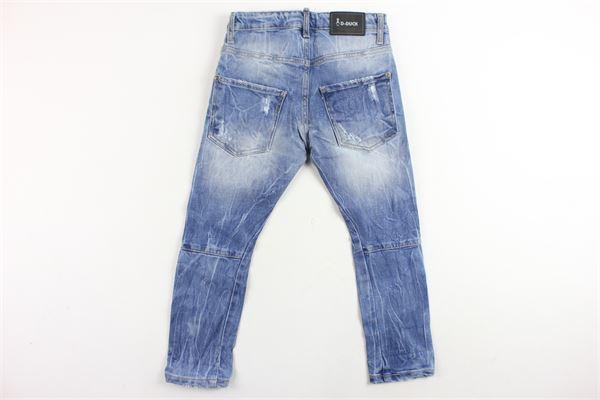 jeans 5 tasche con strappi D-DUCK | Jeans | MALTASAZZURRO