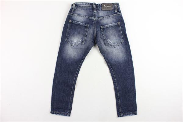 jeans 5 tasche con strappi D-DUCK | Jeans | METALBLU