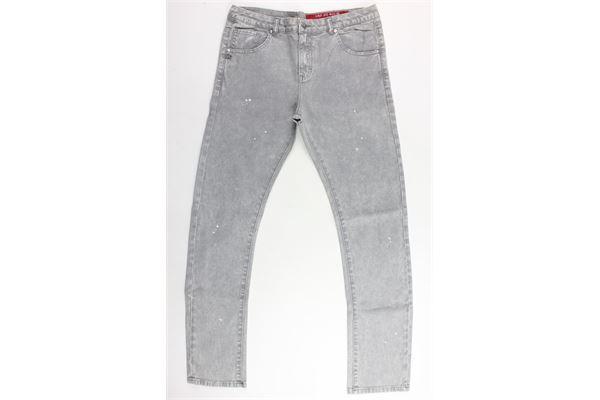 pantalone in denim 5 tasche tinta unita DANIELE ALESSANDRINI | Pantaloni | 1235D0020TGRIGIO