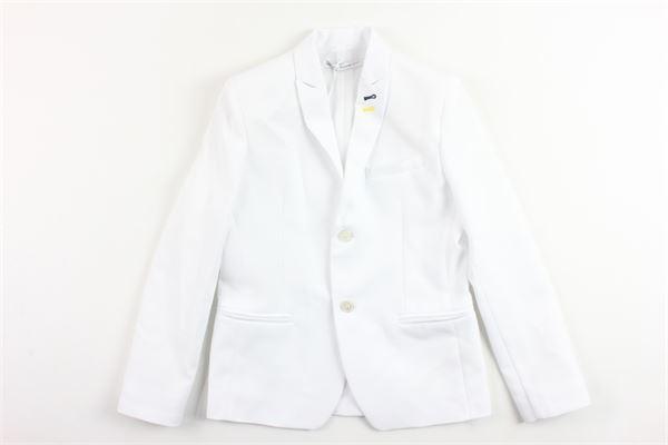 giacca tinta unita con taschino DANIELE ALESSANDRINI | Giacche | 1235J0297JBIANCO