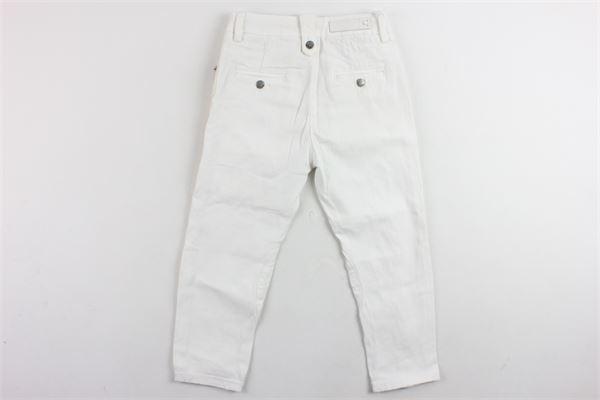 pantalone in denim tasca america con zip laterale DANIELE ALESSANDRINI | Pantaloni | 1235P0010TBIANCO