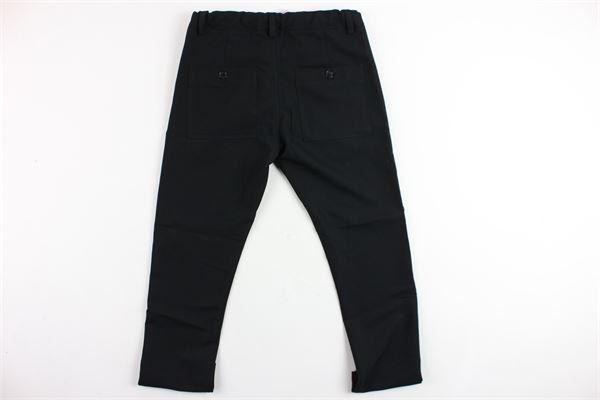 pantalone tinta unita elastico in vita DANIELE ALESSANDRINI | Pantaloni | 1235P0301JNERO