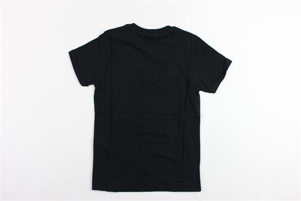 t-shirts mezza manica tinta unita con stampa DANIELE ALESSANDRINI | T-shirts | 1236M0334NERO