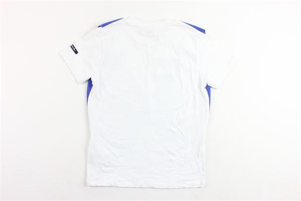 t-shirts mezza manica tinta unita con finto gilet in contrasto DANIELE ALESSANDRINI | T-shirts | 1236M0405COBALTO