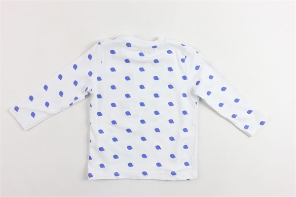 shirt manica lunga tinta unita con stampa e taschino DANIELE ALESSANDRINI | Shirts | 1295M0245BIANCO