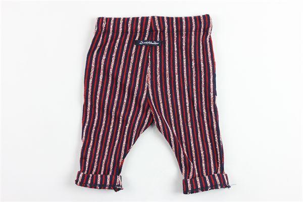 pantalone elastico in vita rigato DANIELE ALESSANDRINI | Pantaloni | 1295P0226ROSSO