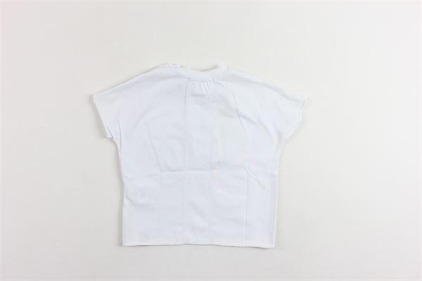 t-shirt mezza manica tinta unita con stampa DANIELE ALESSANDRINI | T-shirts | 1296M0184BIANCO