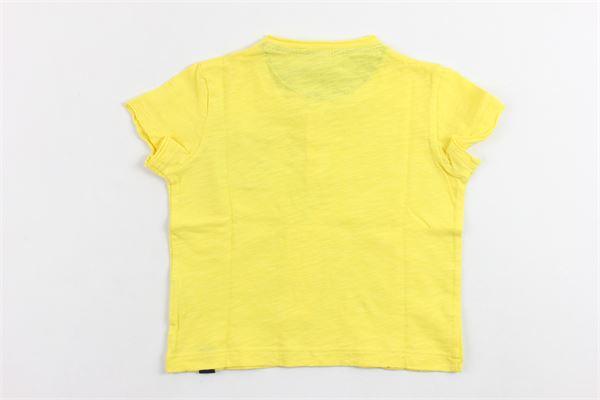 t-shirt mezza manica tinta unita con taschino in contrasto DANIELE ALESSANDRINI | T-shirts | DA96M0058GIALLO