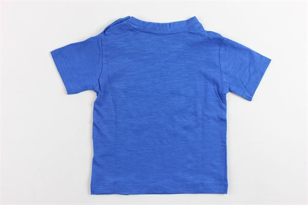 t-shirt mezza manica tinta unita con stampa DANIELE ALESSANDRINI | T-shirts | T-SHIRTDANIELEALESSANDRINI1COBALTO