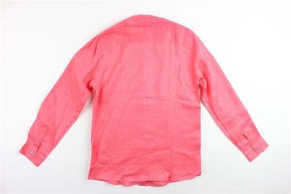 camicia manica lunga tinta unita collo coreano DAVID HAWARD | Camicie | CAMICIADAVIDHAWARD3CORALLO