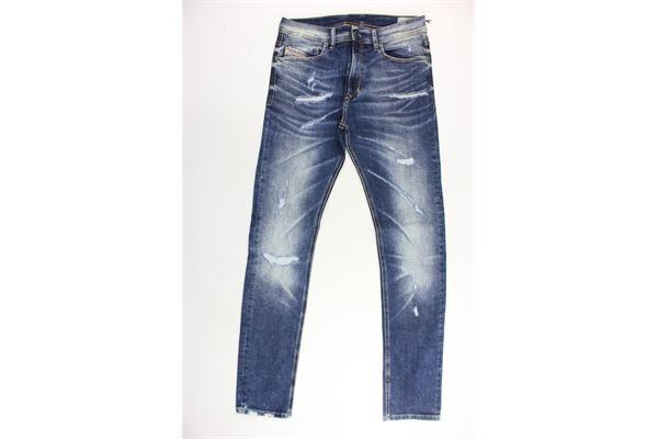 jeans 5 tasche con strappi DIESEL | Jeans | 00J3A4BLU