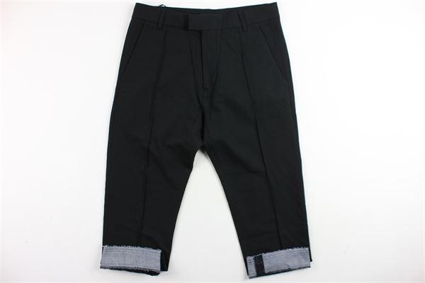 pantalone tinta unita tasca america e profili in denim alle caviglie DIESEL | Pantaloni | 00J3VCNERO
