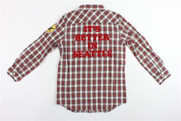 camicia manica lunga fantasia scozzese con stampa DIESEL | Camicie | 00J3VHROSSO