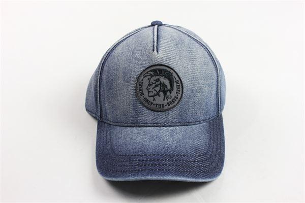 cappello in denim con stampa DIESEL | Cappelli | 00J3X0BLU.