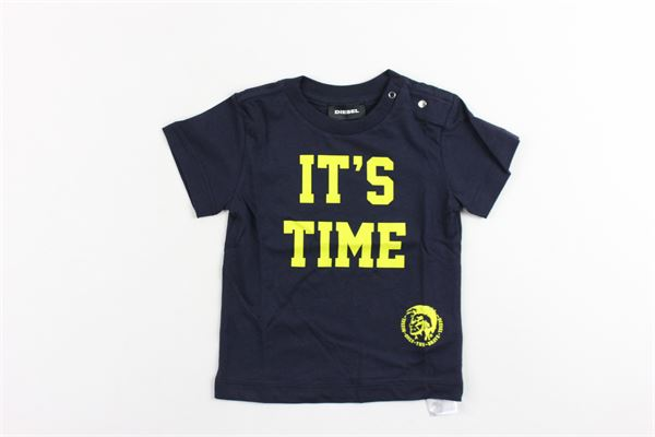 t-shirt mezza manica tinta unita con stampa DIESEL | T-shirt | 00K1R9BLU