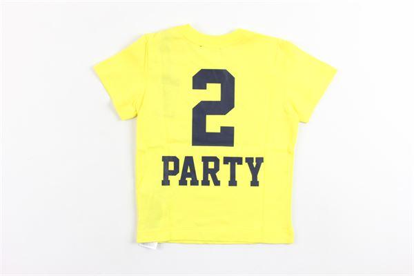 t-shirt mezza manica tinta unita con stampa DIESEL | T-shirts | 00K1R9GIALLO