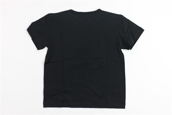 t-shirt mezza manica tinta unita con stampa DOLCE & GABBANA | T-shirts | 9550NERO