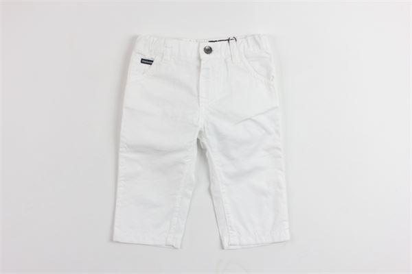 pantalone tinta unita 5 tasche con stampa dolce e gabbana DOLCE & GABBANA | Pantaloni | L11F25LY033BIANCO