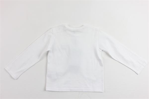 shirt manica lunga tinta unita con stampa dolce e gabbana DOLCE & GABBANA | Shirts | L1JT5KG7KUEBIANCO
