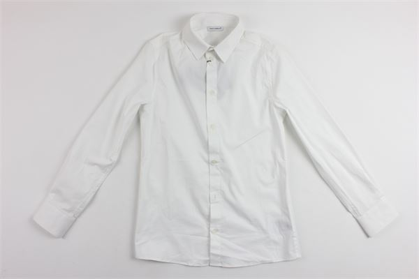 camicia manica lunga tinta unita DOLCE & GABBANA | Camicie | L41S69FUEAJBIANCO
