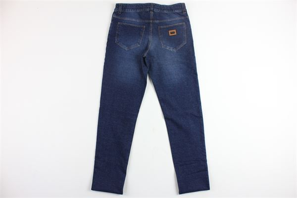jeans 5 tasche tinta unita stampa dolce e gabbana DOLCE & GABBANA | Jeans | L4JP31G7LFWBLU