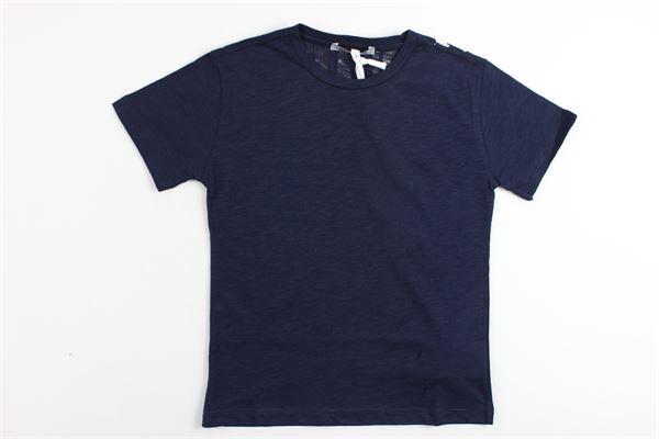 t-shirt mezza manica in cotone tinta stampa dondup dietro DONDUP | T-shirt | DMTS24BLU