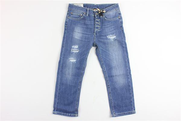 jeans 5 tasche con strappi DONDUP | Jeans | QAP01PAZZURRO