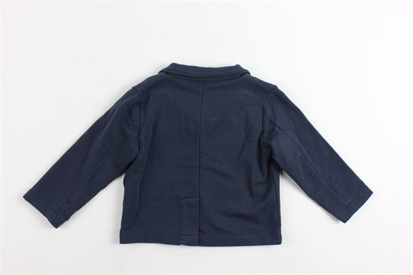 giacca tinta unita in cotone garzato DOU DOU | Giacche | 108068BLU