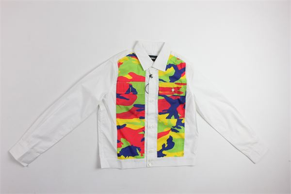 camicia manica lunga stampa fantasia DSQUARED | Camicie | 9554BIANCO