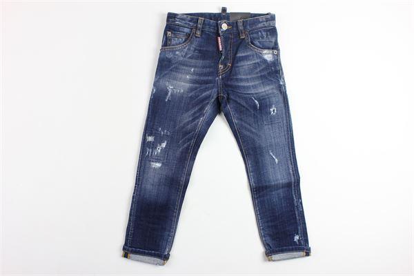 jeans 5 tasche con strappi DSQUARED | Jeans | DQ01PBLU