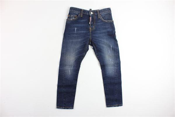 jeans 5 tasche con strappi DSQUARED | Jeans | DQ01PUBLU