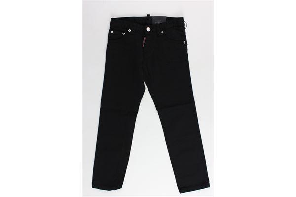 pantalone 5 tasche tinta unita DSQUARED | Pantaloni | DQ01Q3NERO