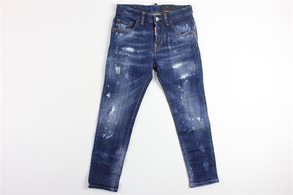 jeans 5 tasche con strappi DSQUARED | Jeans | DQ021DBLU