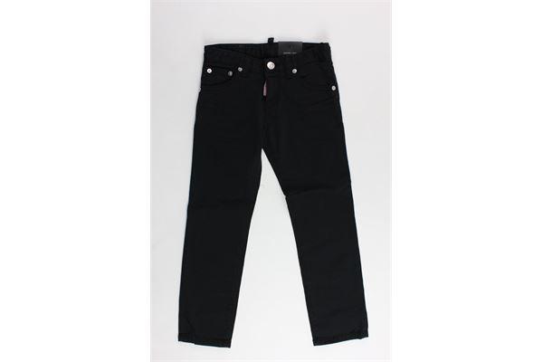 pantalone in denim 5 tasche tinta unita DSQUARED | Pantaloni | DQ021ENERO