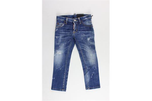 jeans 5 tasche con strappi DSQUARED | Jeans | DQ03HQBLU