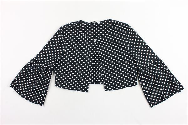 giacca corta tinta unita a pois ELSY GIRL | Giacche | 4408NERO