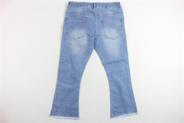 jeans tinta unita 5 tasche a zampa con brillantini ELSY GIRL   Jeans   4604ZAMPYAZZURRO