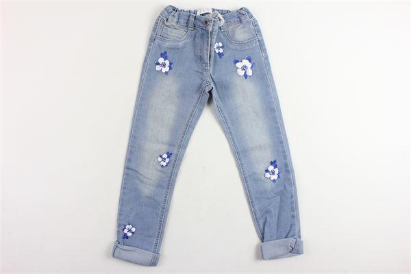 jeans 5 tasche con ricami e girovita regolabile ELSY GIRL   Jeans   6603AMBRAAZZURRO